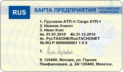 Карта предприятия ЕСТР