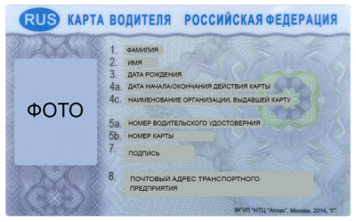 Карта водителя СКЗИ